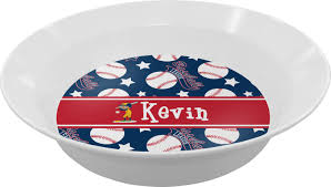personalized dinner plate baseball melamine bowl personalized baby n toddler