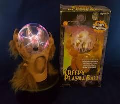 image 2001 gemmy creepy plasma ball hairy wolf hand retired