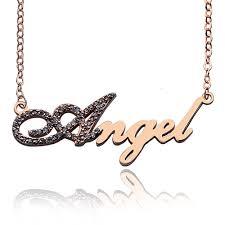 gold script name necklace gold script name necklace initial birthstone