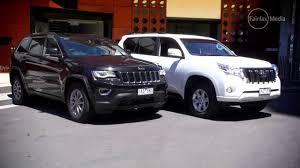 corolla jeep jeep grand cherokee v toyota prado gxl 4wd drive com au youtube