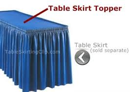 Table Skirts Table Skirting Toppers To Match Your Table Skirts