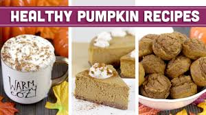 healthy pumpkin recipes for fall thanksgiving