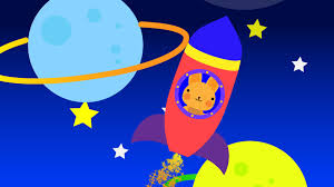 learn colors with cute bunny in spaceship exploring colorful