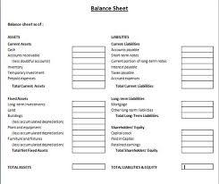 blank sample of business balance sheet template helloalive