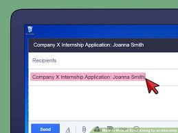 how to write an email asking for an internship