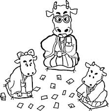 kids animals three cows coloring page animal 16 cow coloring
