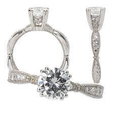 scalloped engagement ring made 18k gold scalloped design engagement ring semi