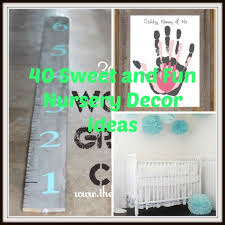 Decor Nursery 40 Sweet And Diy Nursery Decor Design Ideas