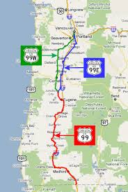 map of hwy 58 oregon pacific highway 1