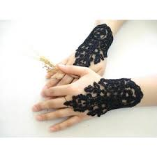 lace accessories black lace fingerless gloves lace wedding accessory