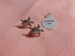 thailand earrings sterling silver turtle stud earrings baubles n