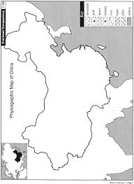 Blank China Map by Physiographic Map Of China U2013 Pojo