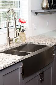 granite countertop kitchen with corner sink blanco faucets
