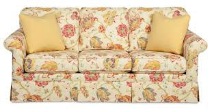 Traditional Sofa Traditional Sofa With Kick Pleat Skirt By Craftmaster Wolf And