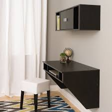 computer desk and hutch set black wall mount floating office