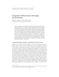 cognitive behavioral therapy for jealousy pdf download available