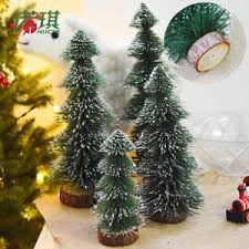 2017 new tabletop pine tree white mini small decorations