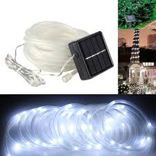 solar powered tube lights 5m 50 led solar power tube lights strip light sensor outdoor
