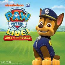 paw patrol live race rescue schedule dates events