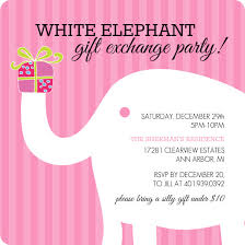 white elephant gift exchange at wedding lading for