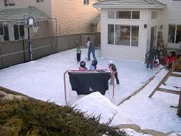 Hockey Rink In Backyard by Sport Court Calgary Alberta Home Courts Backyard Game Courts