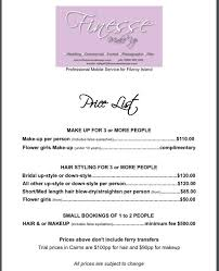bridal makeup package wedding price list makeup finesse makeup