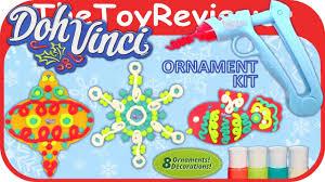 dohvinci style your season christmas ornament kit unboxing toy
