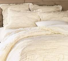 Ivory Duvet Cover King Ruched Bedding For Your Room