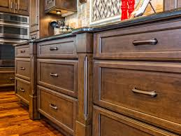 How To Finish The Top Of Kitchen Cabinets How To Stain Wood Kitchen Cabinets Diy
