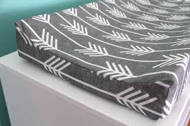 Change Table Pads Charcoal Arrow Contoured Changing Pad Cover By Iviebaby On Etsy