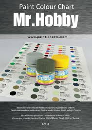 paint colour chart gunze mr hobby 12mm pjb pc112