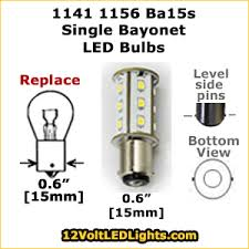 1141 1156 ba15s single bayonet base led bulb