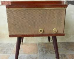 Rca Victrola Record Player Cabinet Vintage Record Player Console Etsy