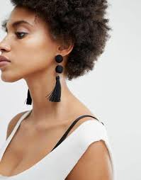black ear studs earrings ear cuffs silver gold studs drop earrings asos