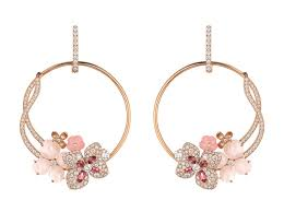 chaumet earrings floral beauty chaumet hortensia collection luxury insider