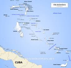 Caribbean Ocean Map by Bahamas Map Geographical Features Of Bahamas Of The Caribbean