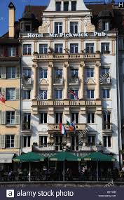 switzerland lucerne luzern hotel mr pickwick pub stock photo