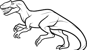 line drawings dinosaur coloring pages for kids fresh in collection