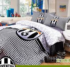 Bed Covers Set 100 Cotton Boys Juventus Football Bedding Sets Bed Covers