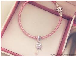 pink leather bracelet images Feature pandora leather bracelets mora pandora png