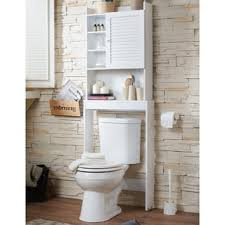 White Space Saver Bathroom Cabinet by Furniture Of America Sylvia Modern White Space Saver Cabinet