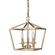 Modern Pendant Lights by Antique Gold Lantern Pendant Light 12