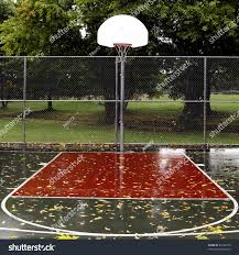 deserted outdoor playground basketball court stock photo 67202170