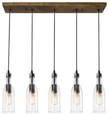 5 light glass mason jar hanging ceiling pendant kitchen island