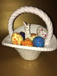 ceramic easter eggs ceramic easter basket large white 10 8 ceramic easter eggs