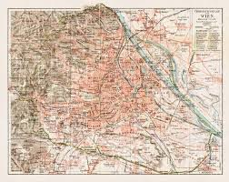map of vienna historical map prints of vienna wien in austria for sale and