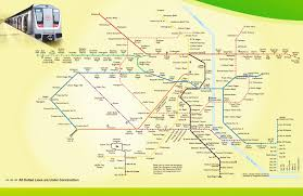 Blue Line Delhi Metro Map by Zoom Mapdumy New Jpg