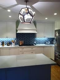 blue kitchen backsplash blue herringbone backsplash island kitchen design