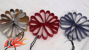 diy how to make hanging decoration from paper jk arts 083 youtube