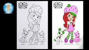 strawberry shortcake coloring pages custard cat pupcake dog